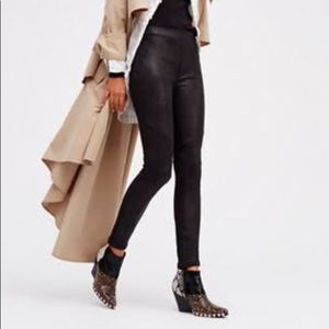 FREE PEOPLE never let you go faux leather leggings